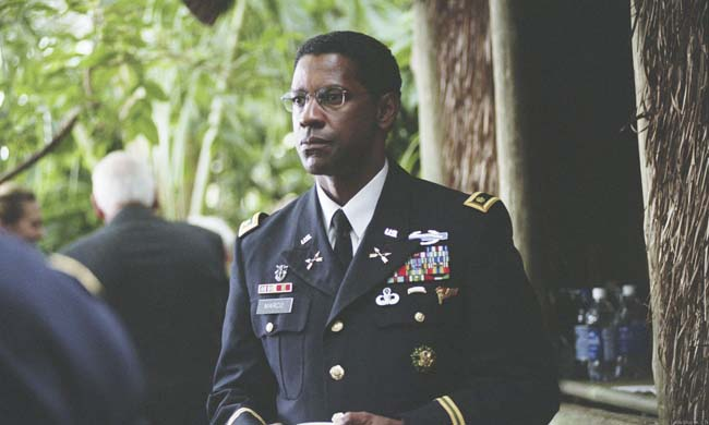 "Denzel Washington en ""The Manchurian Candidate"""