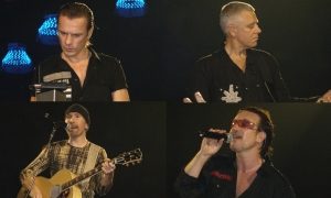U2: Larry Mullen, Jr., Adam Clayton, The Edge y Bono